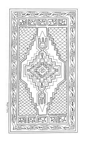 Turkish Rug Mandala Coloring Page From Mandala Category Select