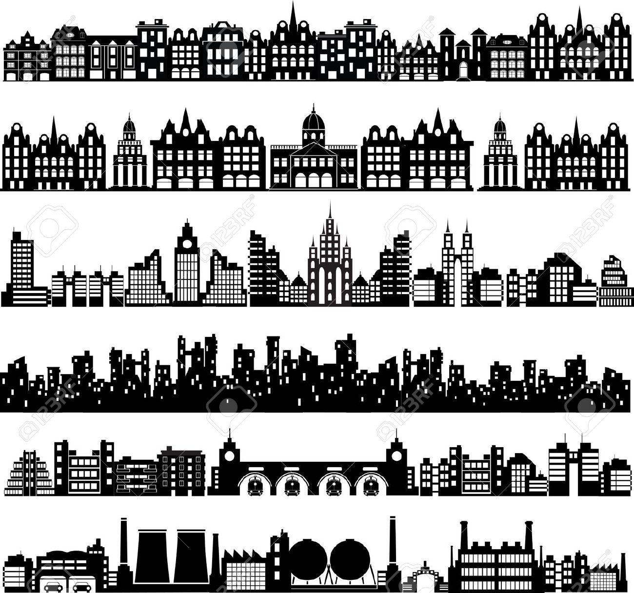 Silhouette Huisjes Google Zoeken City Silhouette House Silhouette Graphic Design Portfolio Cover