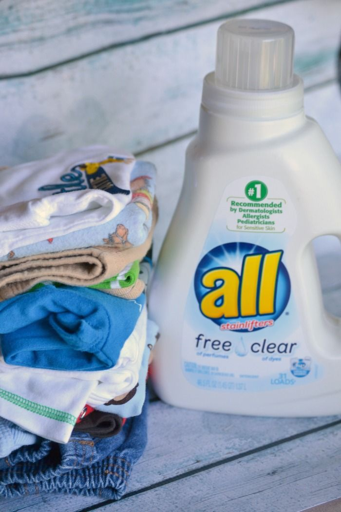 All Free Clear helps me keep my son's clothes clean enough to pass on to other families!