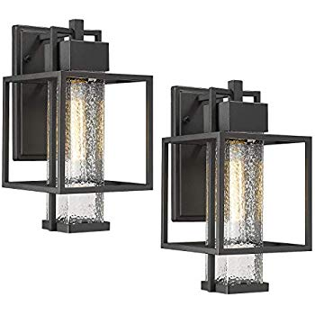 Amazon Com Osimir Outdoor Wall Sconce 2 Pack Farmhouse Style Exterior Wall La Modern Outdoor Lighting Fixtures Outdoor Light Fixtures Modern Outdoor Lighting