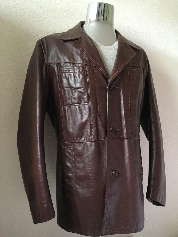Vintage Men S 70 S Brown Leather Jacket Fully Lined Etsy Leather Jacket Vintage Outfits Vintage Men [ 1500 x 1125 Pixel ]