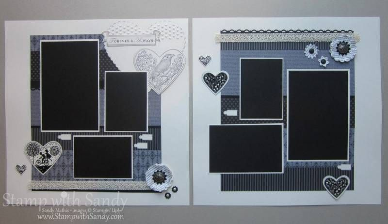 Take it to Heart Vintage Scrapbook Pages, Spread by stampwithsandy - Cards and Paper Crafts at Splitcoaststampers