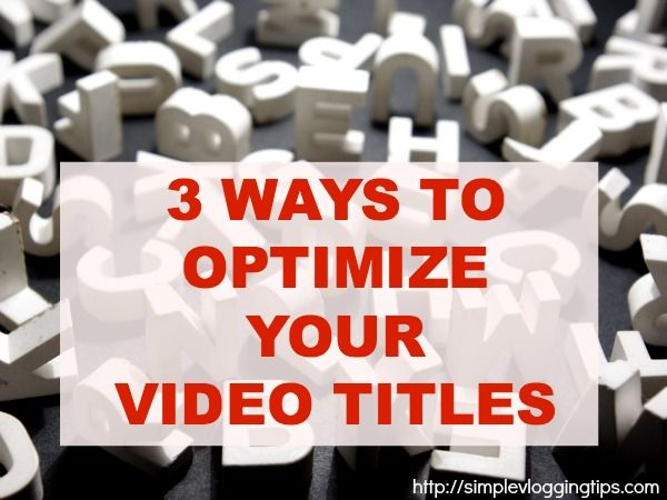 optimize YouTube titles