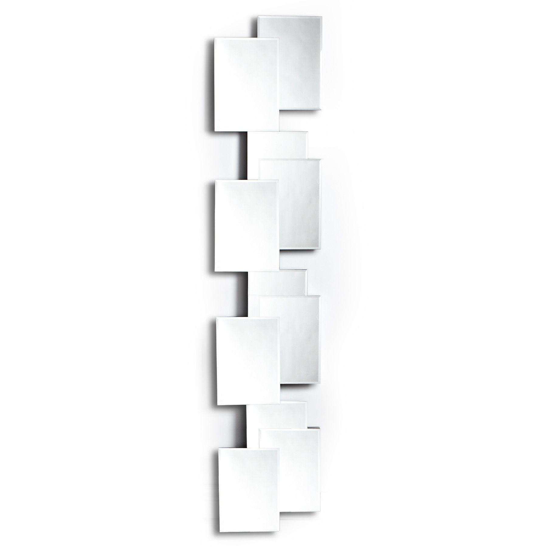 70 Glass Long Narrow Squares Wall Mirror Black Wall Mirror