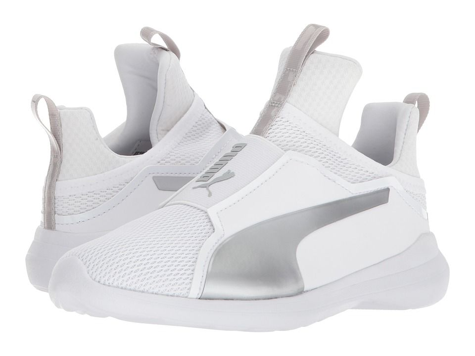 Puma Kids Fierce Core (Little Kid Big Kid) Girls Shoes Puma White Gray  Violet fbdf6bef7