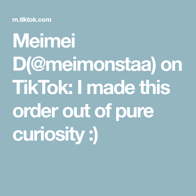 Meimei D Meimonstaa On Tiktok I Made This Order Out Of Pure Curiosity Pure Products Made Christmas Gifts