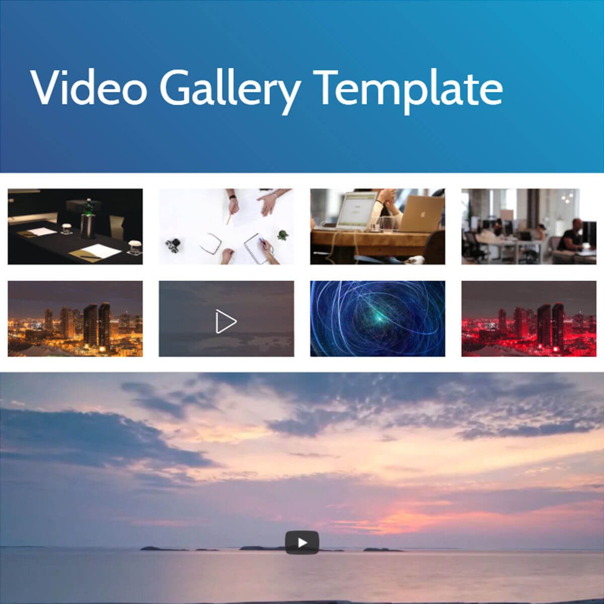 Html5 Bootstrap Video Gallery Template Free Download Templates Gallery Photo Galleries