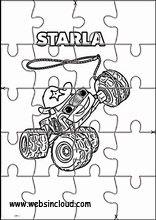 puzzles rompecabezas recortables. blaze y los monster machines7 | formen vorschule, puzzle