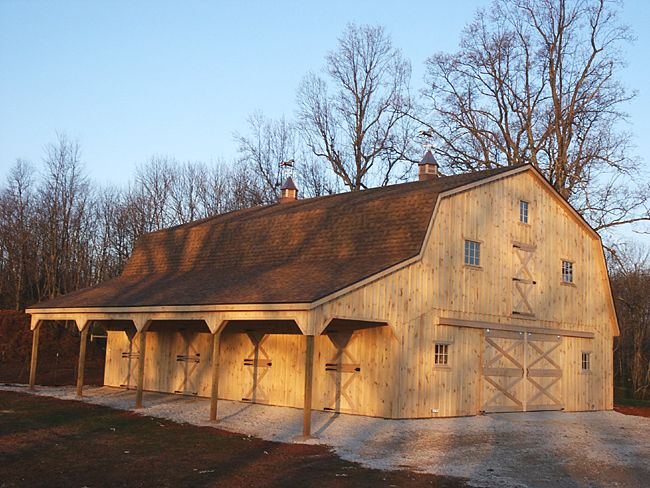 Metal Barn Style House With Gambrel Style Roof To Provide More