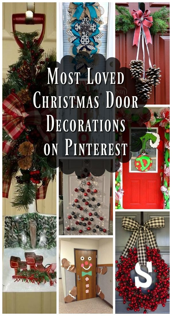 Most Loved Christmas Door Decorations Ideas On Pinterest All