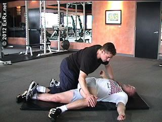 pnf lying crossover stretch  workout plan natural