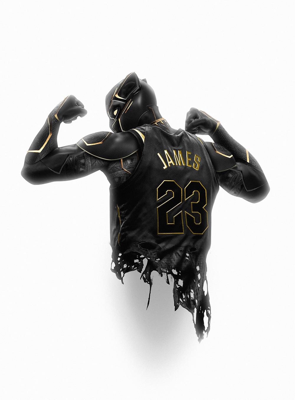 ArtStation - WAKANDA KING23, Kode LGX | Black panther art, Lebron ...