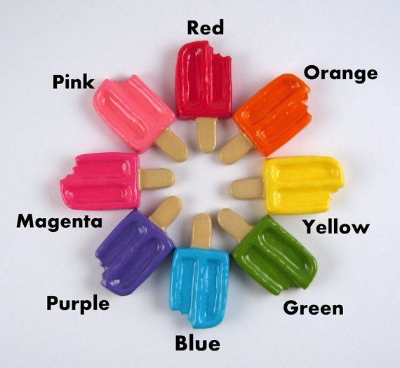 Orange Green Purple Room: Popsicles Pick Your Color Pink