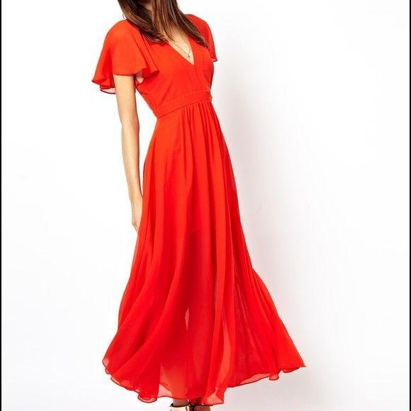 Red Asos Maxi Dress Red Maxi Dresses Red Maxi And Maxi Dresses