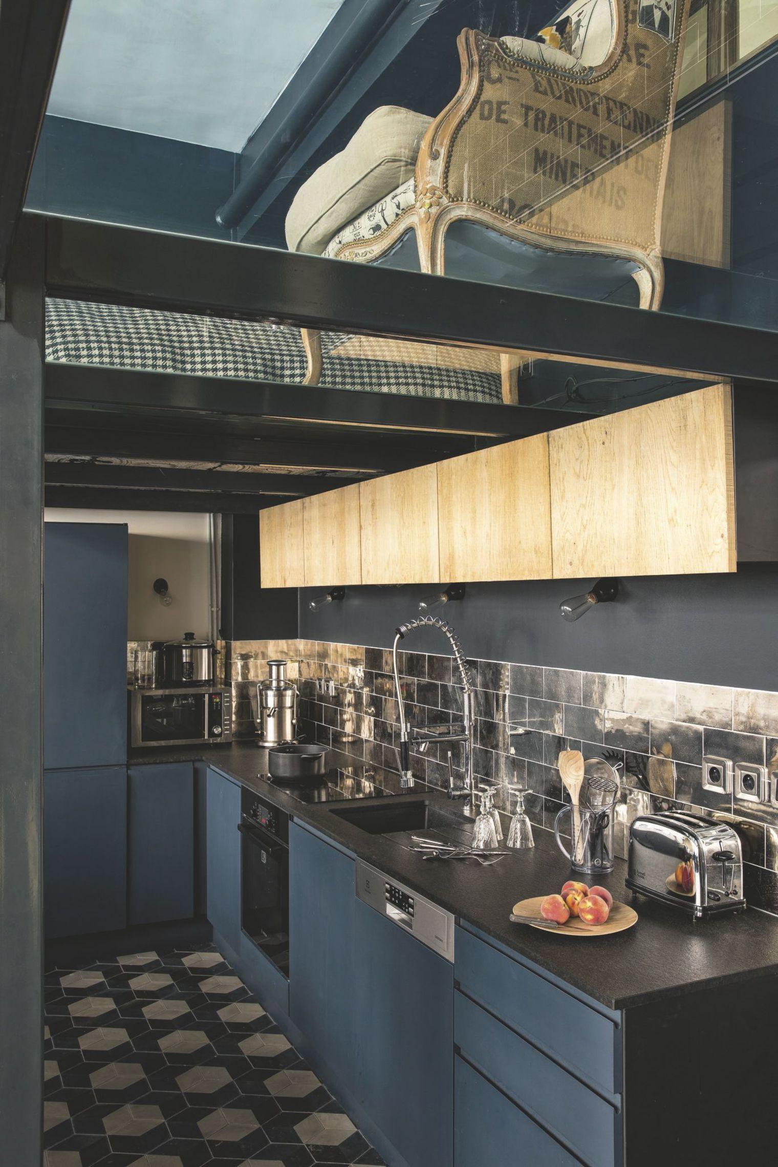 Cuisine Sur Mesure Lille duplex paris : photos d'un duplex familial de 75 m2