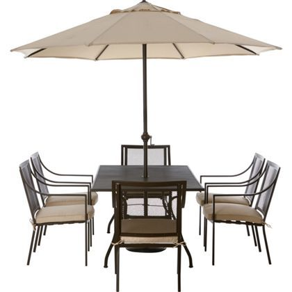 Rimini 6 Seater Metal Garden Furniture Set