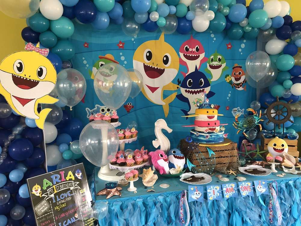 Baby Shark Birthday Party Ideas Photo 3 of 11 Shark