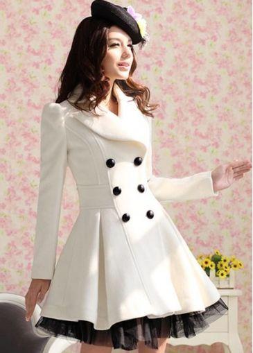 Womans White Coat