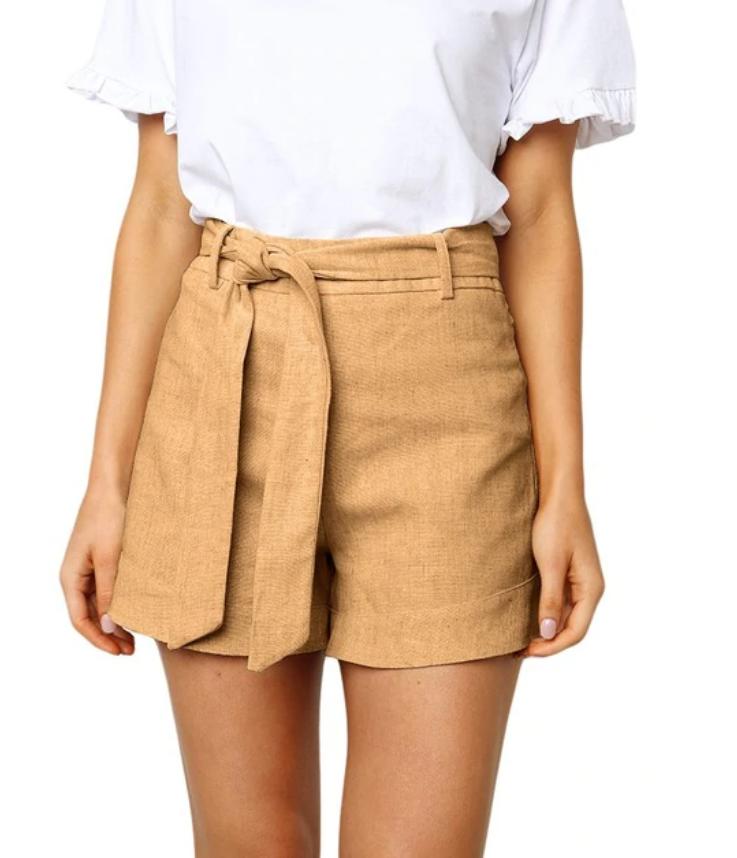 86d0b7d04cf Women's Summer Shorts With Waist Belt in 2019 | Clothes | Tie shorts ...