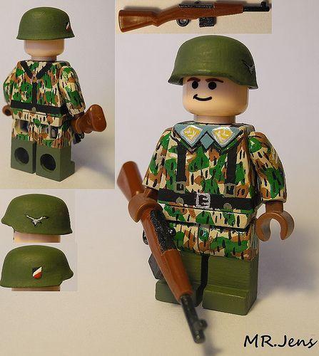 Lego Custom Minifigure WW2 German Camo Elite REAL LEGO®!