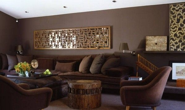 Paredesdecolormarronchocolate01  Espacios Salas  Pinterest Best Brown Living Room Design Design Inspiration