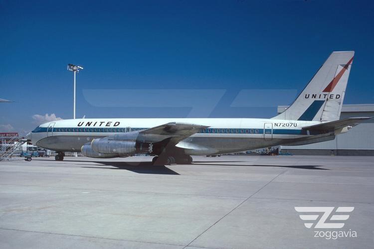 N7207U Boeing 720 United Airlines, 1960s United airlines