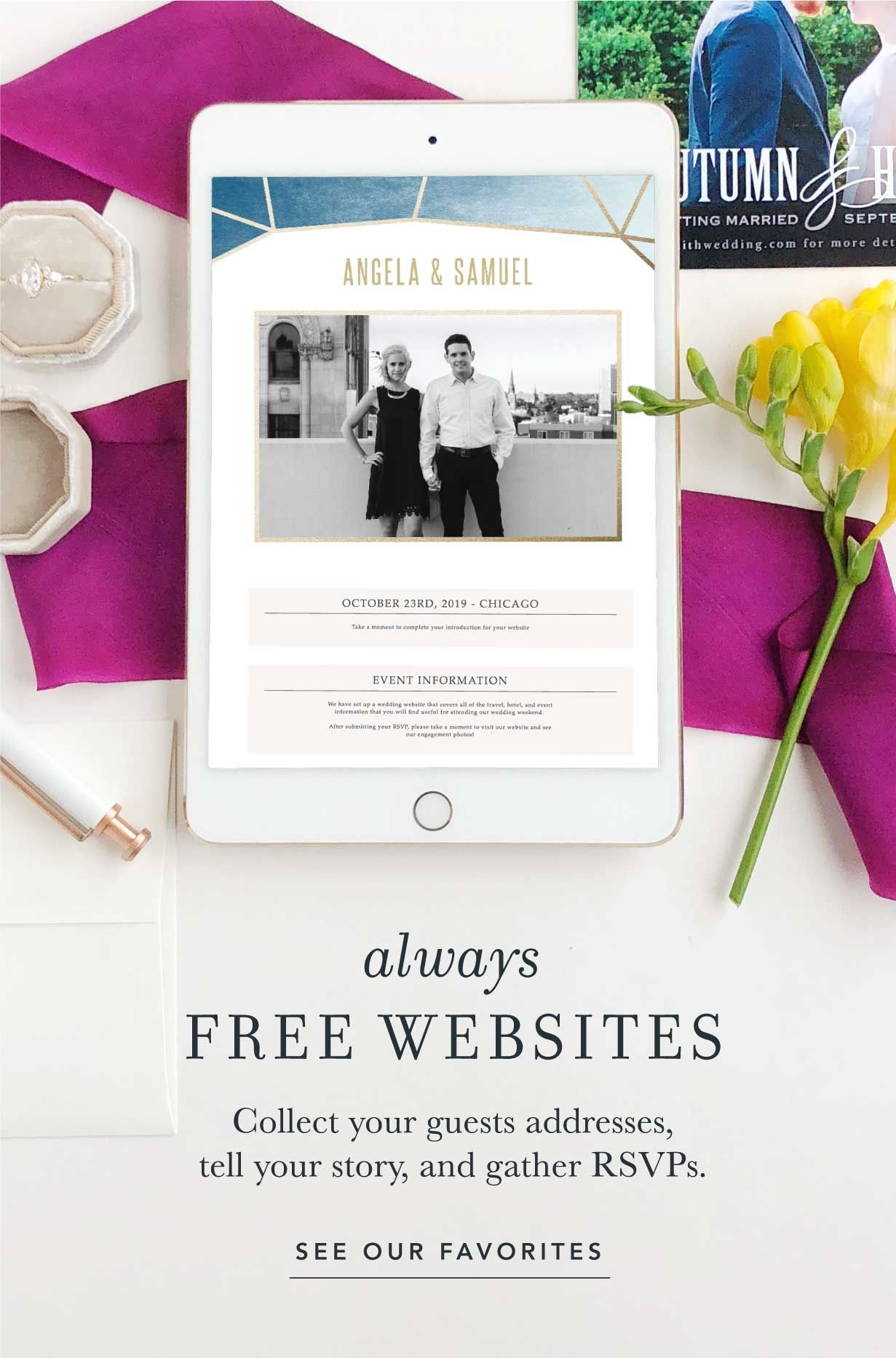 Free Website With Invitation Orders Free Address Collecting