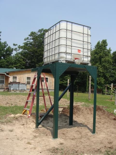 Dave S Discourse Finished The Water Tank Stand In 2020 Water Tank Water Storage Tanks Tank Stand
