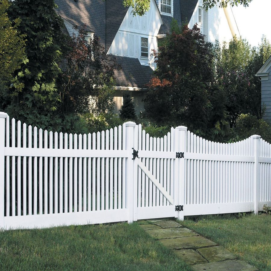Shop Barrette Elite Keswick Scallop 4 Ft X 8 Ft White Scalloped Picket Vinyl Fence Panel At Lowes Com Vinyl Fence Picket Fence Panels Vinyl Fence Panels