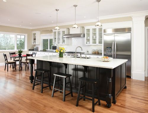 #53 - Owner - Los Altos - traditional - kitchen - san francisco - Precision Cabinets & Trim love black bar