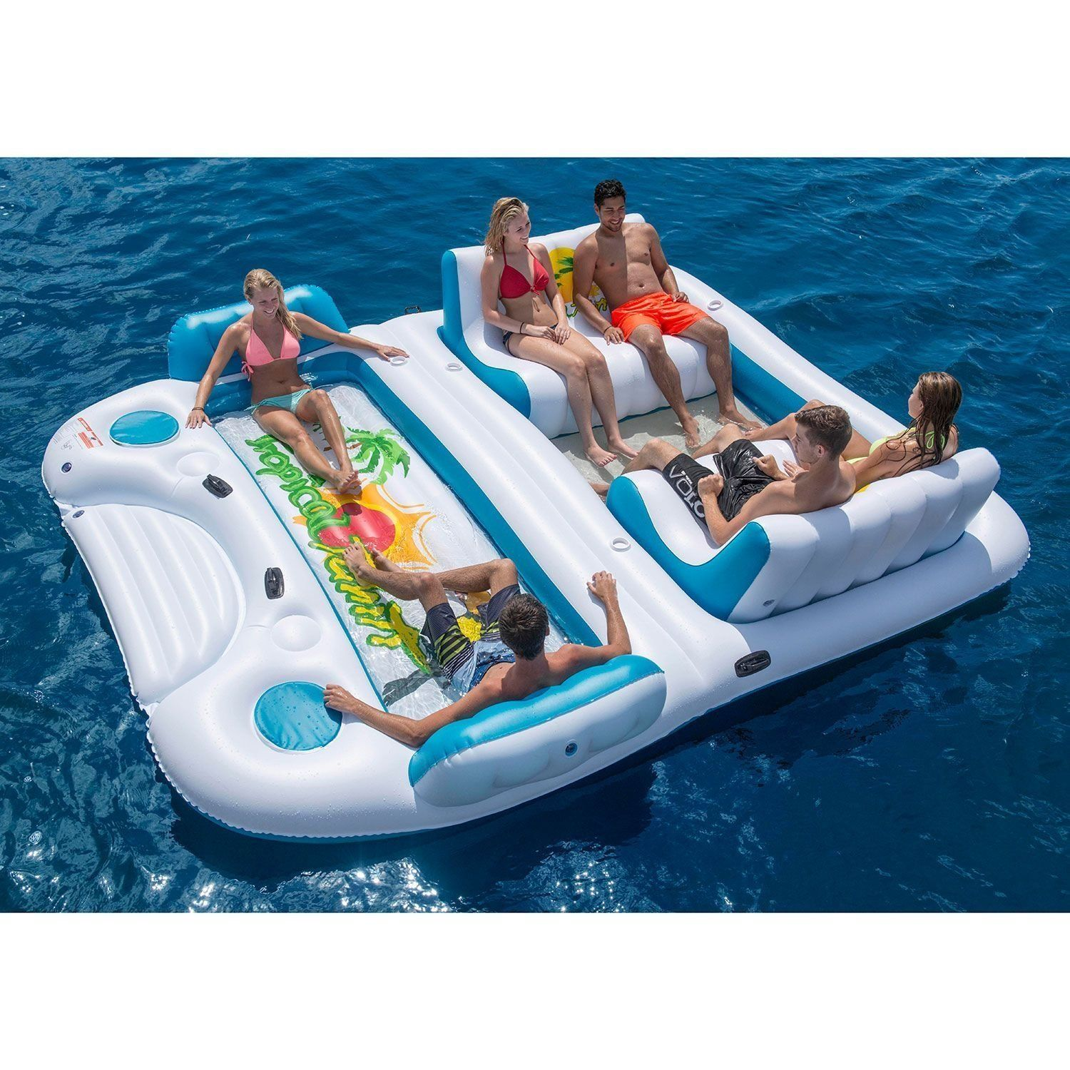 Tropical Tahiti Floating Island for the pool beach or lake