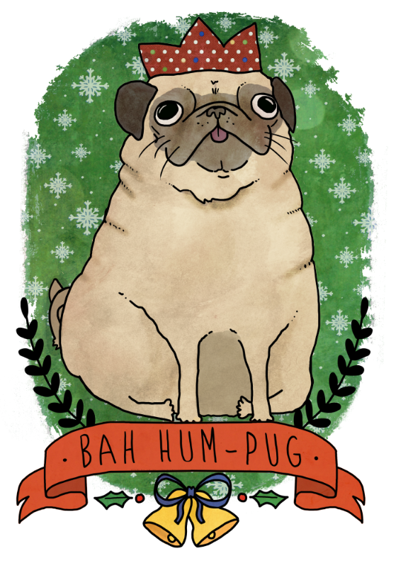 something I did today to get in the spirit.bah hum-pug!~