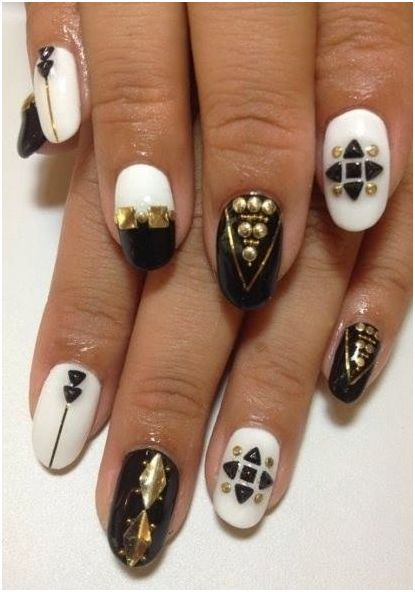 Studded Nail Design Tutorial For 2017 Styles Art Nails