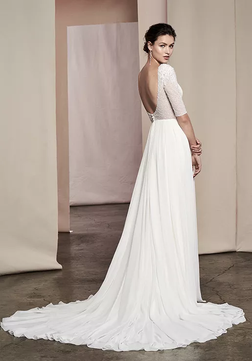 Delphine A Line Gown Designer Wedding Gowns Wedding Dresses