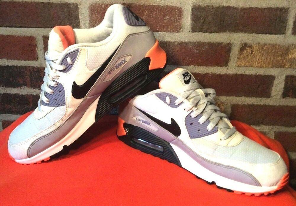 hot sale online 8dfdc 927cd Mens Nike Air Max 90 Essential 537384-005 Size 13 Orange Gray Black GUC  SHARP!  Nike  Athletic