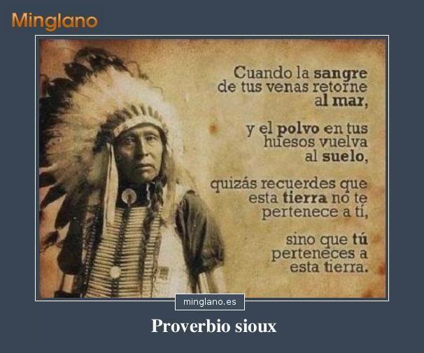 Proverbios indios americanos sobre la tierra