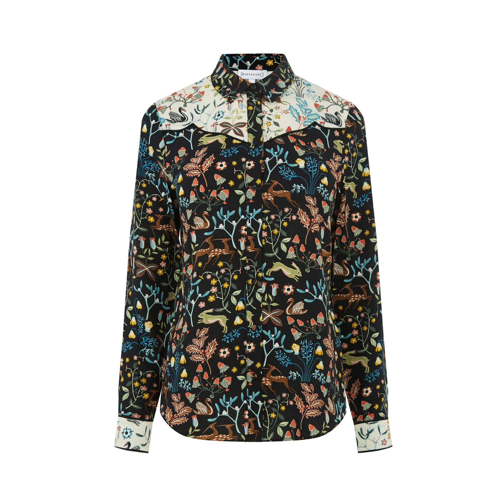 Thistle Print Western Shirt Warehouse Shirts Western Shirts Shirt Collar Pattern