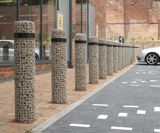 Gabion Bollards Marks Amp Spencer Eco Store Sheffield