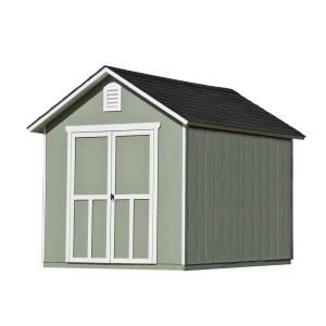 Handy Home Products Meridian 8 Ft X 10 Ft Wood Storage Shed 19347 7 At The Home Depot Mobile Wood Storage Sheds Outdoor Storage Sheds Shed