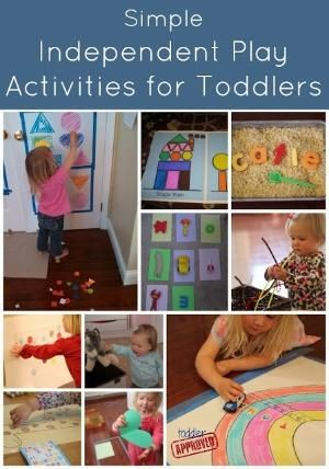 Toddler Approved!: Simple Independent Play Activities for Toddlers. What other activities does your child love? by dragonflyg.grrl