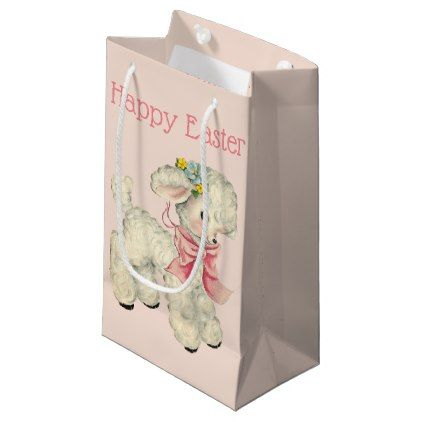 Retrovintage easter lamb small gift bag easter lamb negle Images
