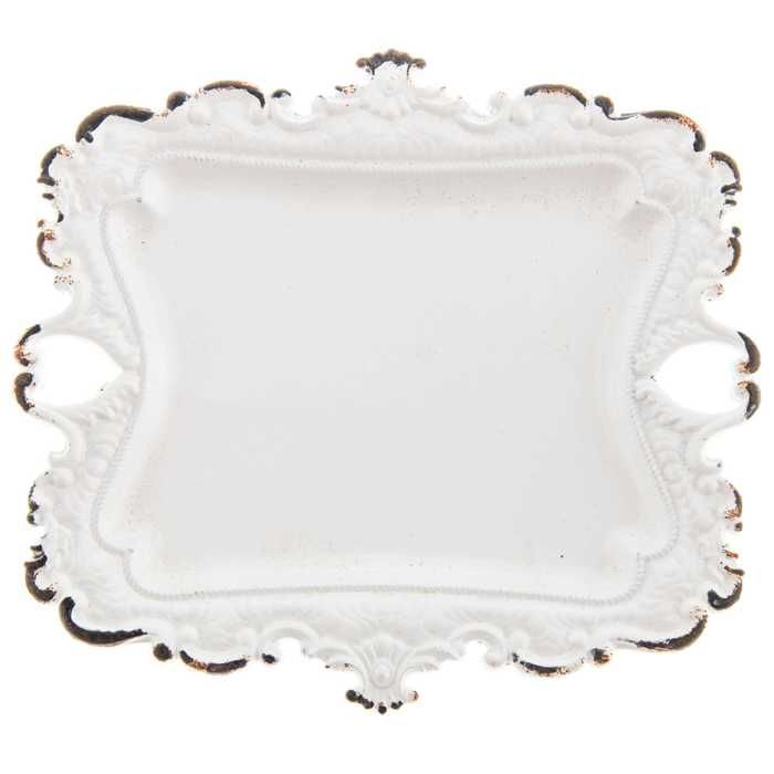 White Decorative Tray Captivating White Pewter Jewelry Tray With Ornate Edge  Hobby Lobby  1141274 Inspiration Design