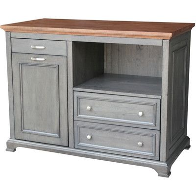 Just Cabinets Bristol Kitchen Island With Wood Top Find This Pin And More