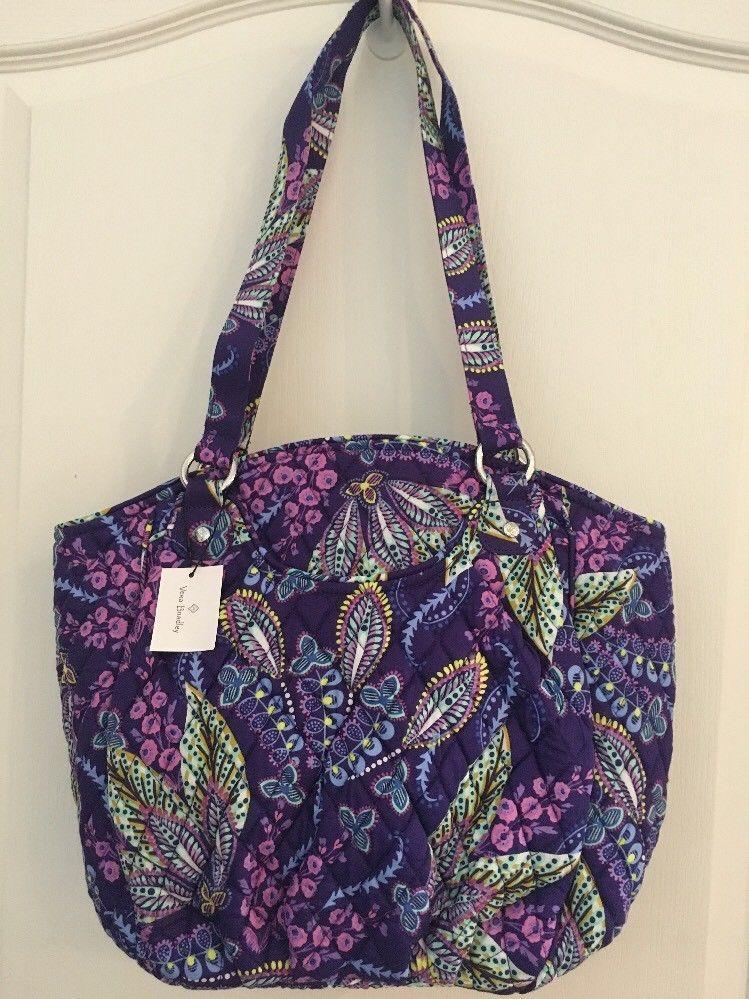 2e213b1007 NEW Vera Bradley BATIK LEAVES Glenna Tote - Shoulder Handbag Purse Bag - NWT