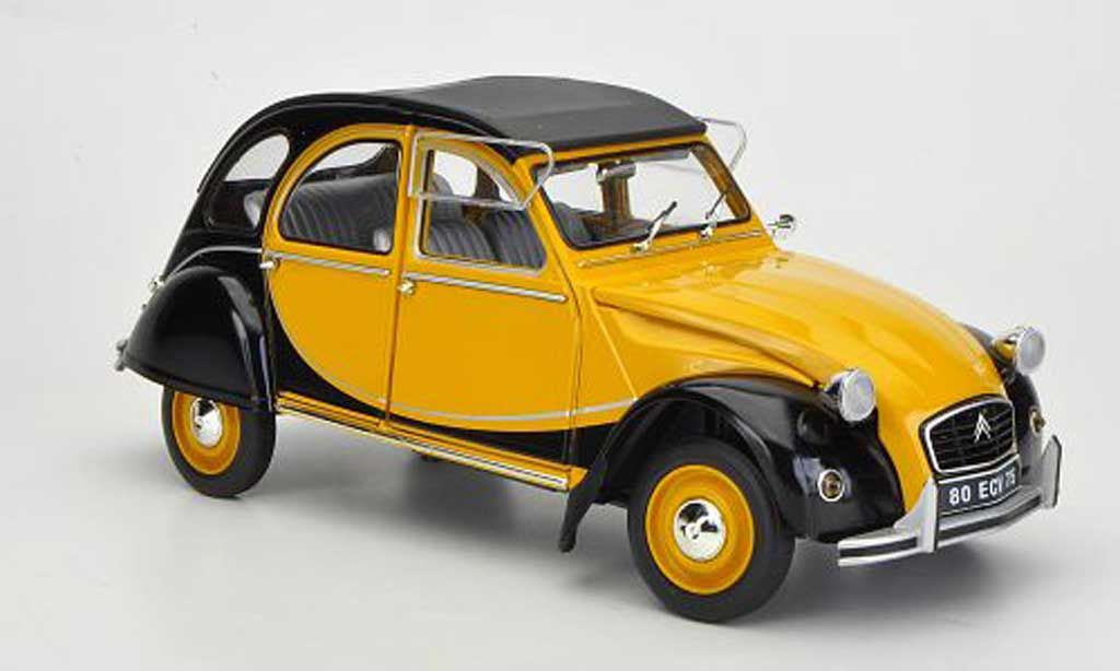 Citroen 2cv Charleston Jaune Noire 1982 1 18 Voiture Miniature Com Toy Car Charleston Car Model