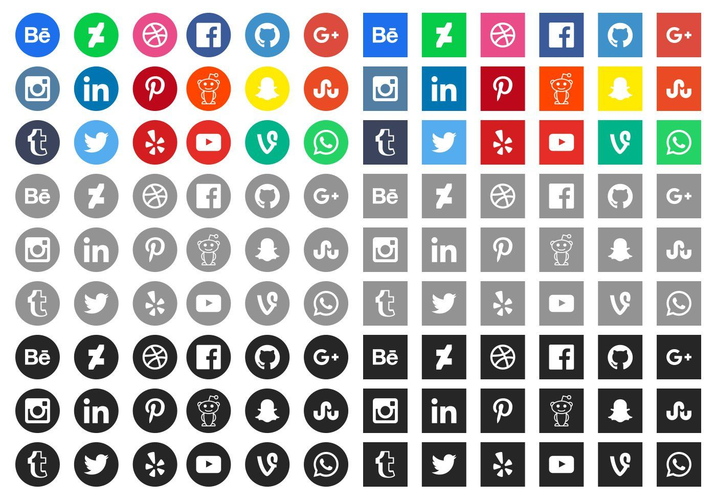 50+ High Quality Free Social Media Icons Social media