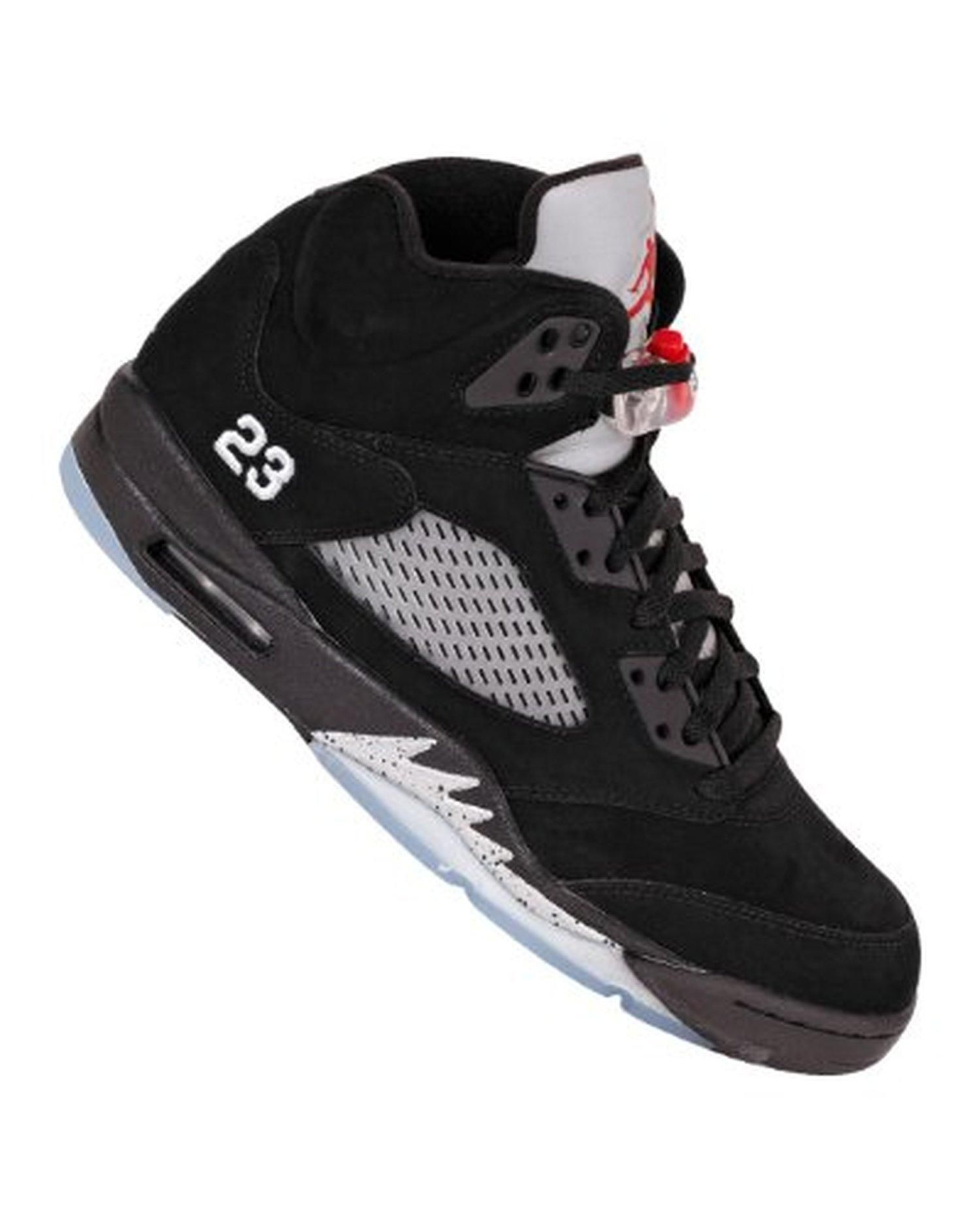 6556eebbcce Nike Air Jordan 5 Retro Mens Basketball Shoes 2011 [136027-010] Black/Varsity  Red-Metallic Silver Mens Shoes 136027-010-9.5 - Brought to you by Avarsha. com