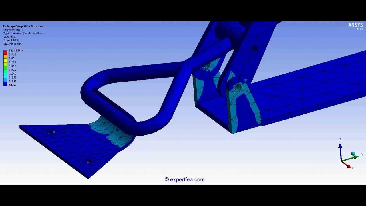 TUTORIAL 15: Ansys Workbench Static Structural FEA of a