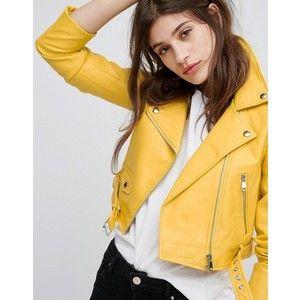 Bershka Leather Look Biker Jacket