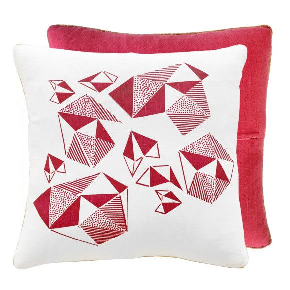 Fuchsia Pattern Play Throw Pillow